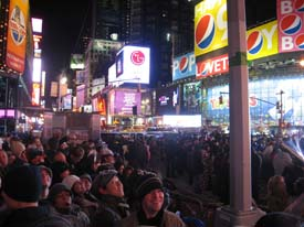 New Years Times Square Waiting