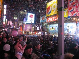 New Years Times Square Crowds